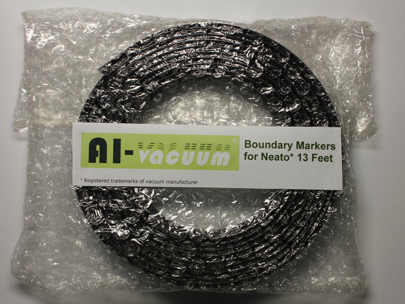 AI-Vacuum Boundary Markers for Neato and Shark ION Robot Vacuum,Black,13 feet by AI-Vacuum