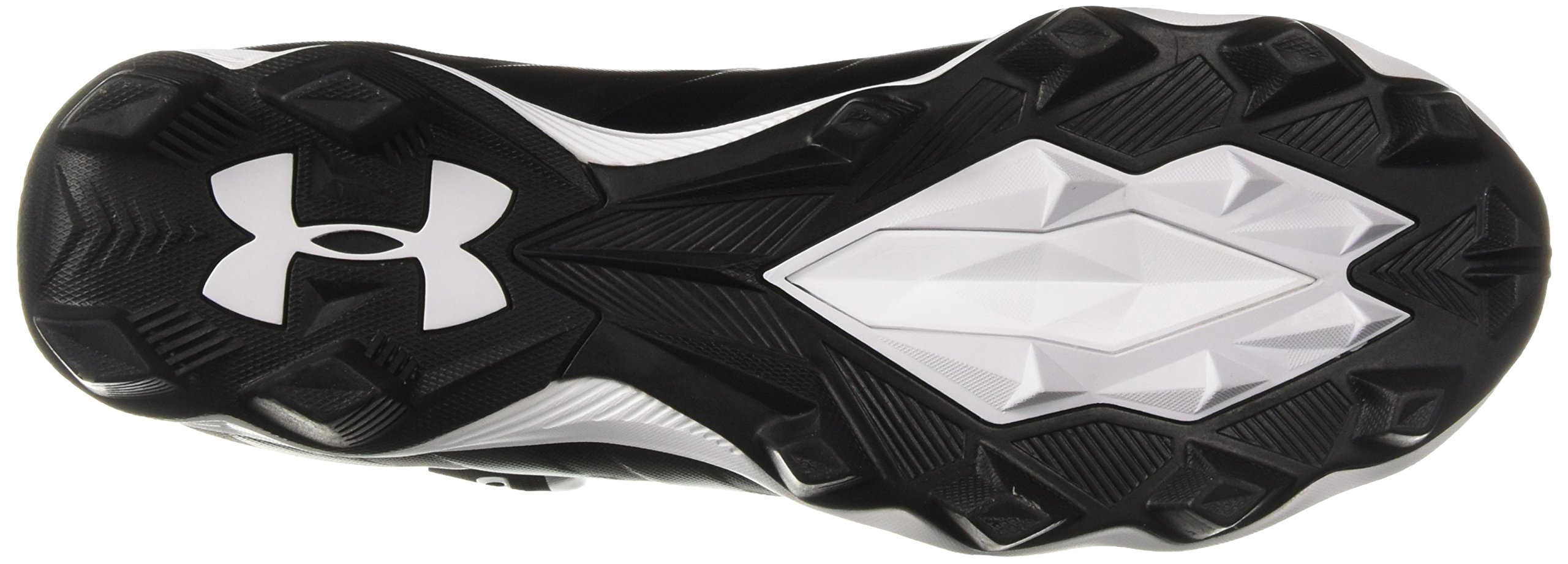 Under Armour Men's Renegade RM Wide Football Shoe 002/Black, 11 W US by Under Armour (Image #3)