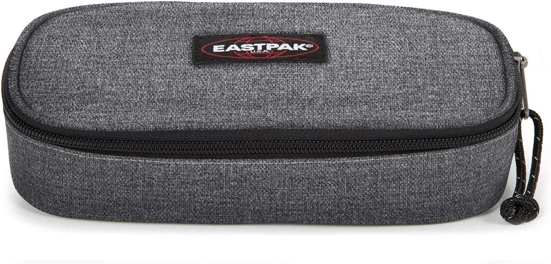Eastpak Oval Single Estuche, 22 Cm, Gris (Black Denim)