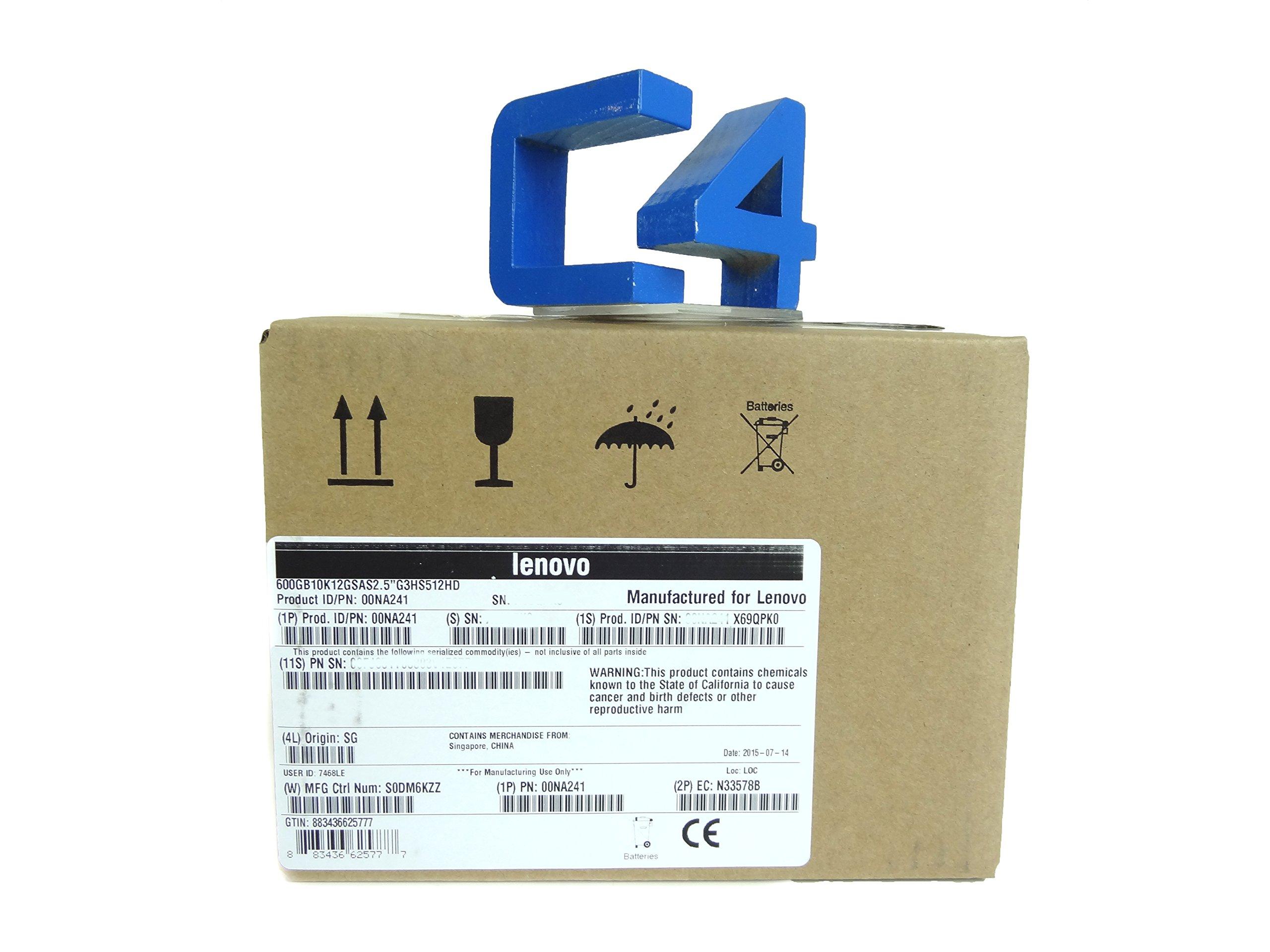 Lenovo 00NA241 IBM Gen3 512e - Hard drive - 600 GB - hot-swap - 2.5 inch - SAS 12Gb/s - 10000 rpm - for System x3550 M5 (2.5 inch ), x3650 M5 (2.5 inch )