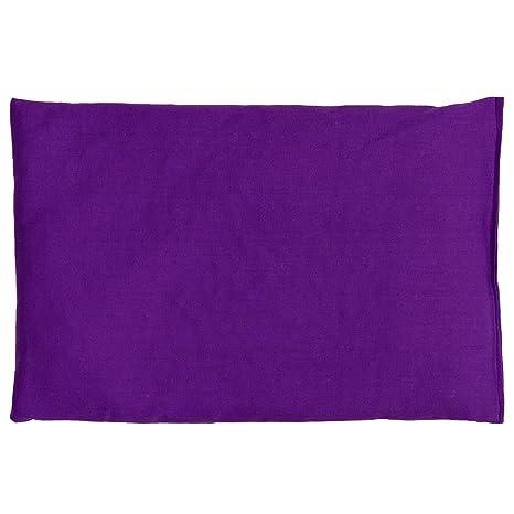 Almohada térmica de semillas 30x20cm violeta | Saco térmico para microondas, horno, congelador | Cojín con semillas de grosella