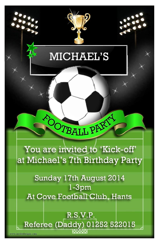 Football invitations