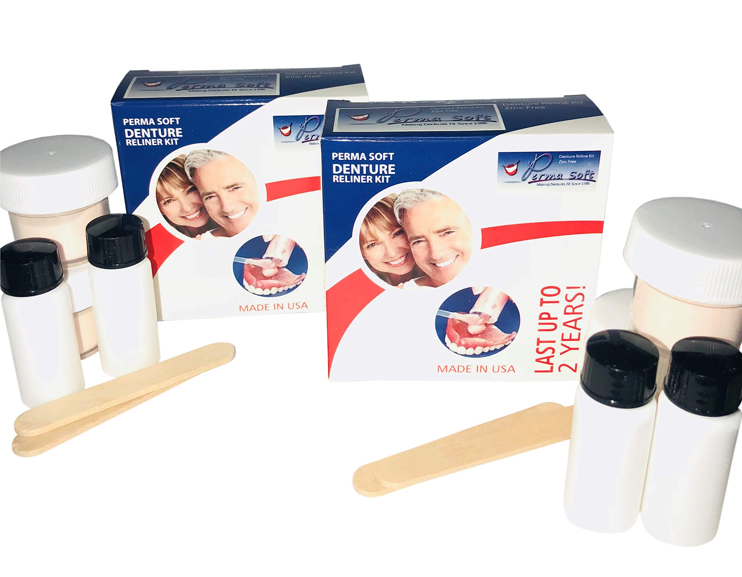 Perma Soft Denture Reline Kit- 2 Boxes (relines 4 dentures)