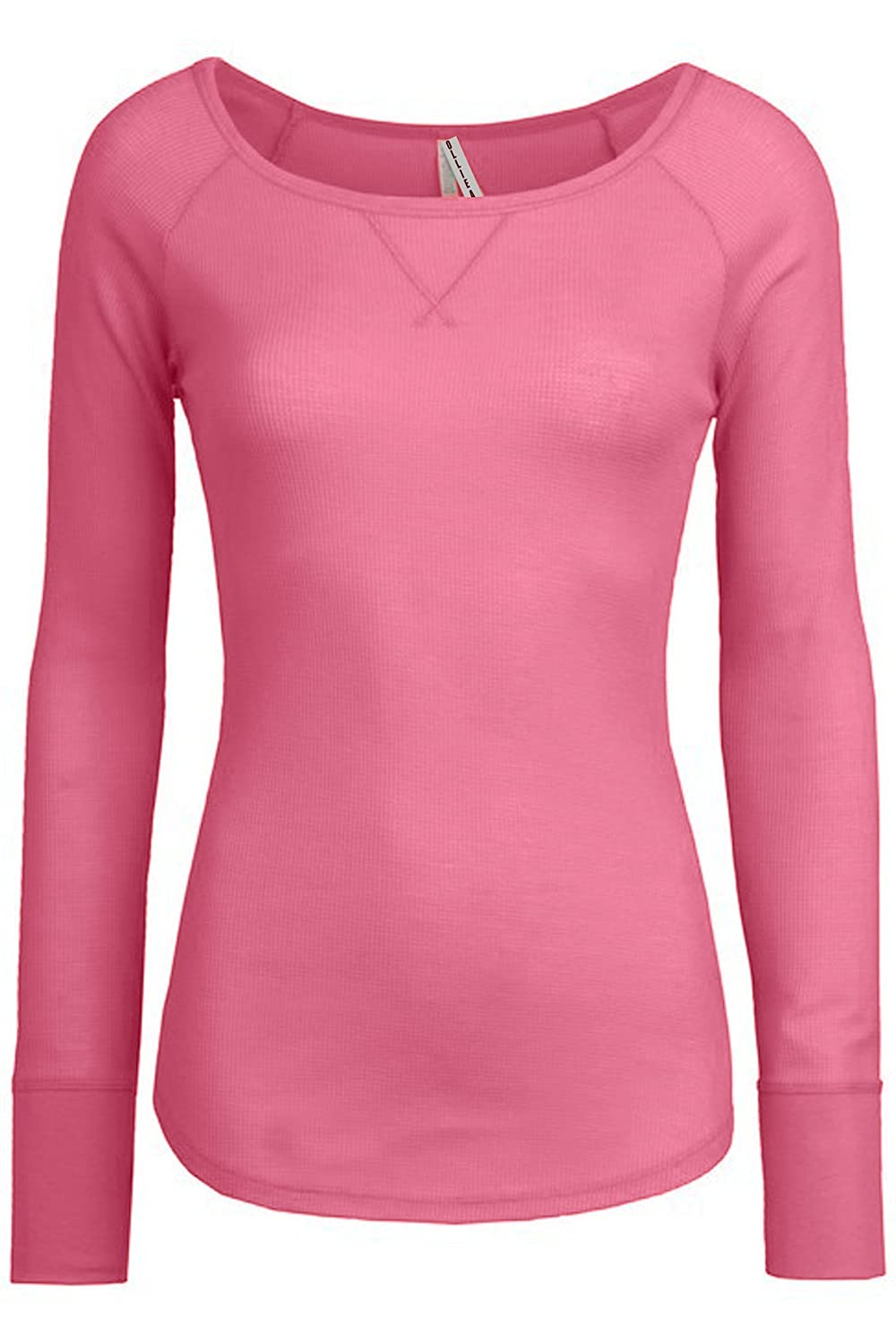 Ollie Arnes Women's Round Neck Fitted Long Sleeve Cool Sweater Shirt Top OA-SOLIDLONGLSEEVE