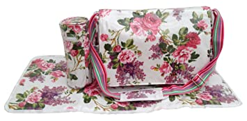 Izzy Rose Boutique Shabby Chic Baby Changing Nappy Bag With Changing ...