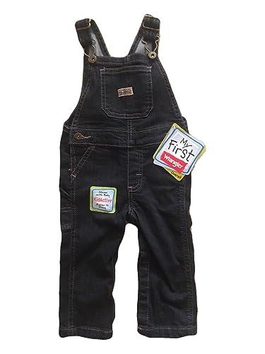 1782b20d365f Amazon.com  Wrangler Baby Toddler Infant Denim Bib Overalls - My ...