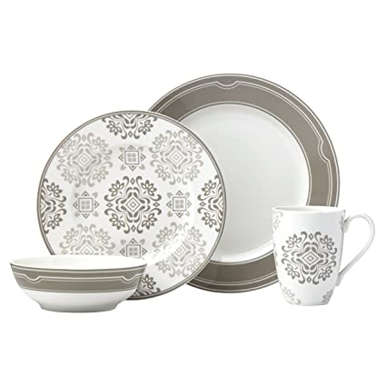 Lenox 4-Piece Neutral Party Medallion Place Setting Dinnerware Set  sc 1 st  Amazon.com & Amazon.com: Lenox 4-Piece Neutral Party Medallion Place Setting ...