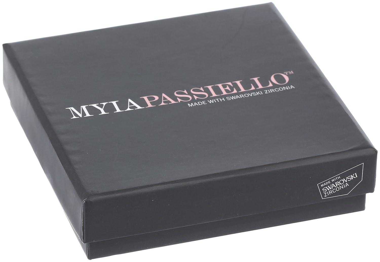 Myia Passiello Sterling Silver and Swarovski Zirconia Heart Key Necklace