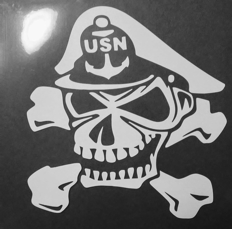 Amazon com navy sailor skull custom decal sticker design handmade