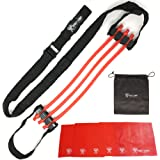 Pull Up Assist Band by Frost Giant Fitness – With 6 HAND GRIPS - High Performance & Adjustable Chin up Assist Band - P90X Crossfit & Full Body Workout Pullup Bands - Non-Slip – Heavy Duty