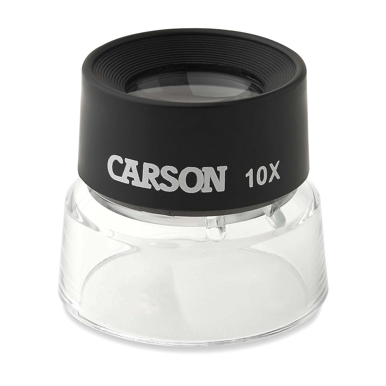 Carson Lupa de Contacto LumiLoupe de 10x con Ret/ículo de Medici/ón a Presi/ón