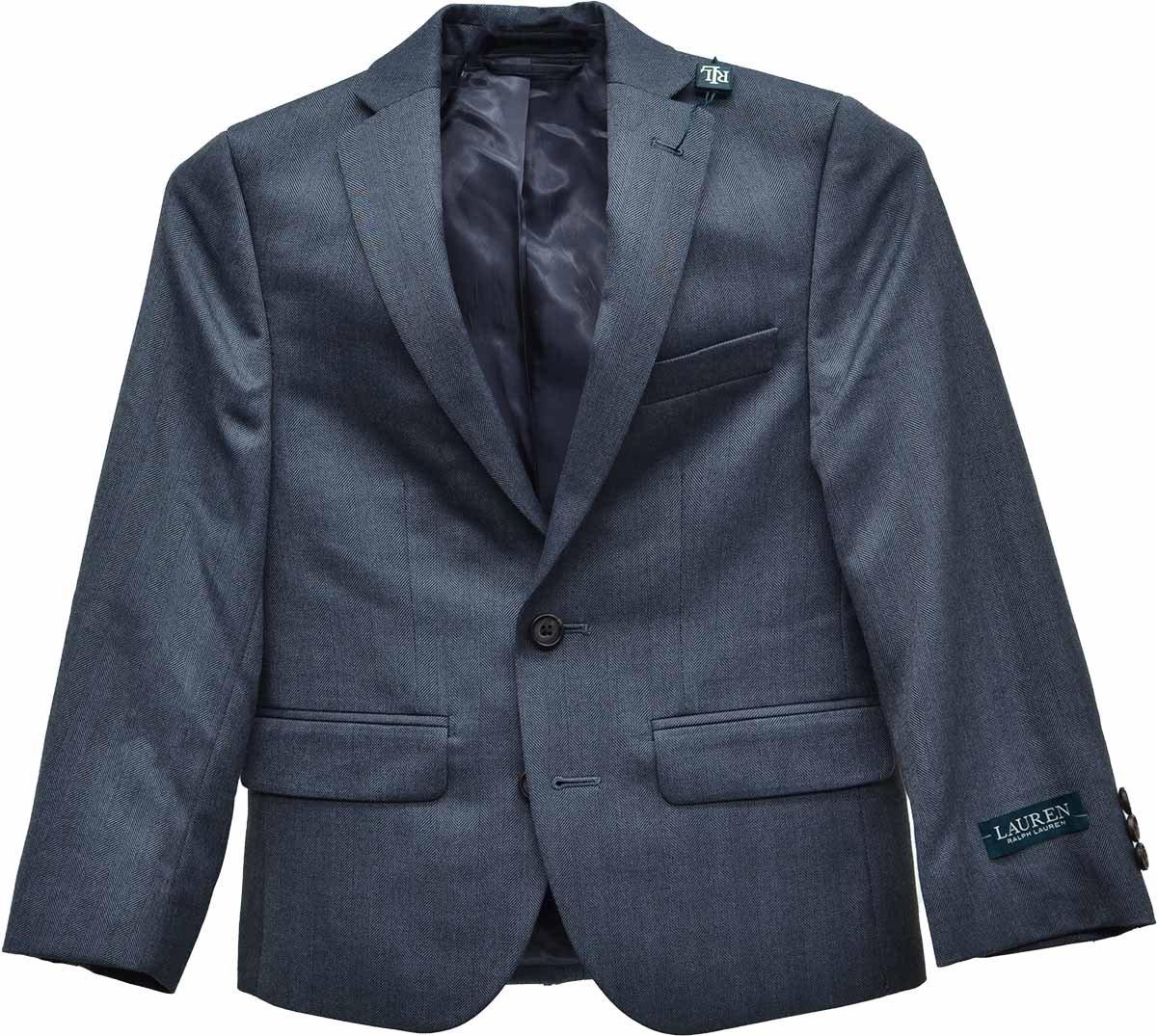 Lauren Ralph Lauren Boys' Gray Herringbone Sport Coat 8R by Lauren by Ralph Lauren