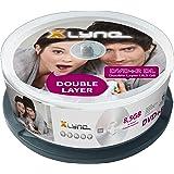 XLYNE DVD+R DL Double Layer Rohlinge (8,5 GB, 8x Speed, 25er Spindel)