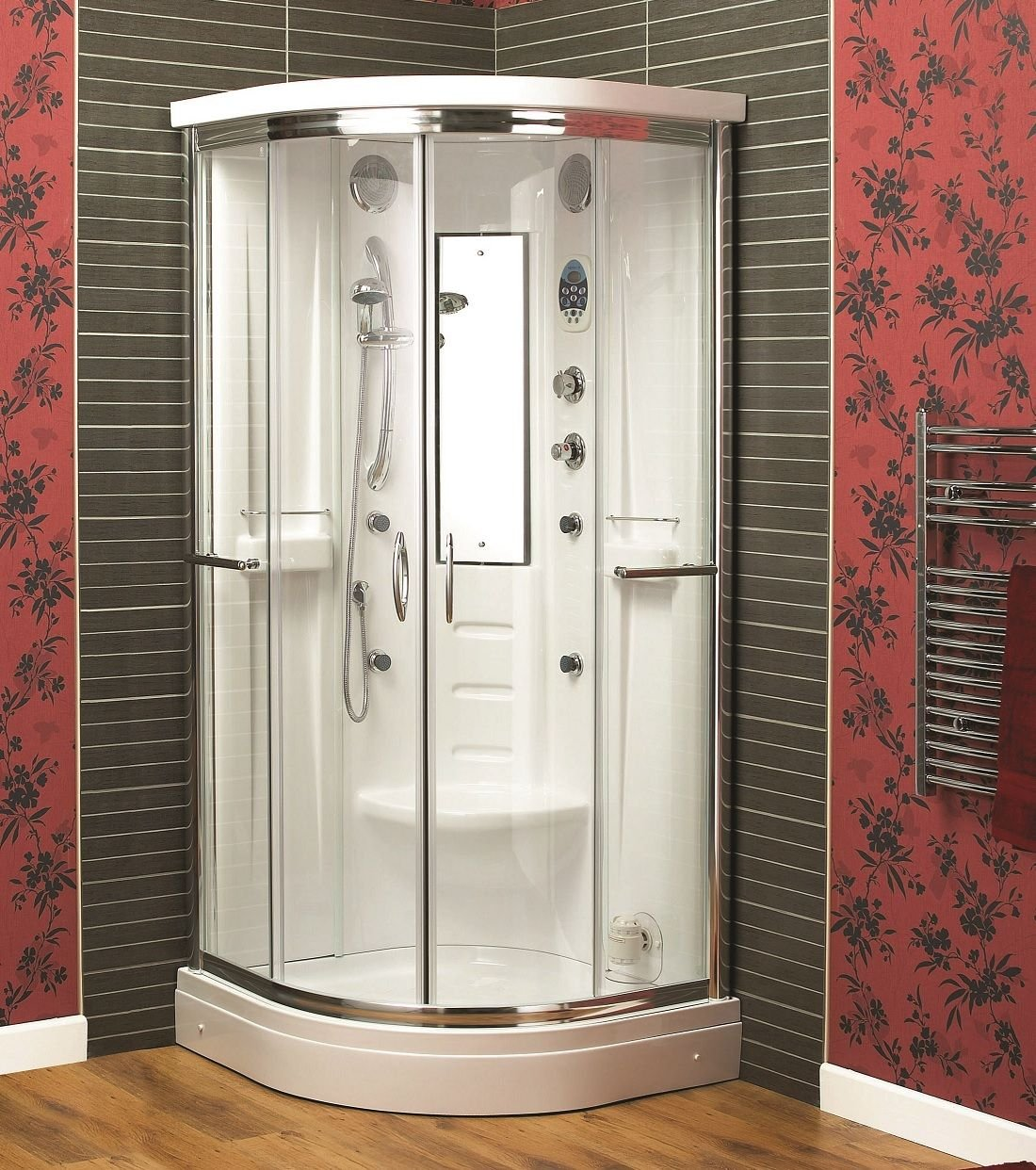 Aqualux Florenta Quadrant Steam Shower Enclosure Cabin 900Mm X 900Mm ...
