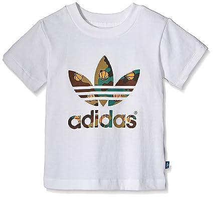 7a1c45c7 adidas Originals Trefoil Basketball Camouflage Tee Boys Baby T-Shirt White  - White, 110: Amazon.co.uk: Clothing
