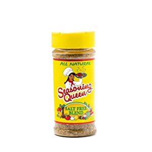Seasoning Queen Salt Free All Purpose Blend- 100% Concentrated Blend of All Natural Kosher Herbs & Spices 5 oz.