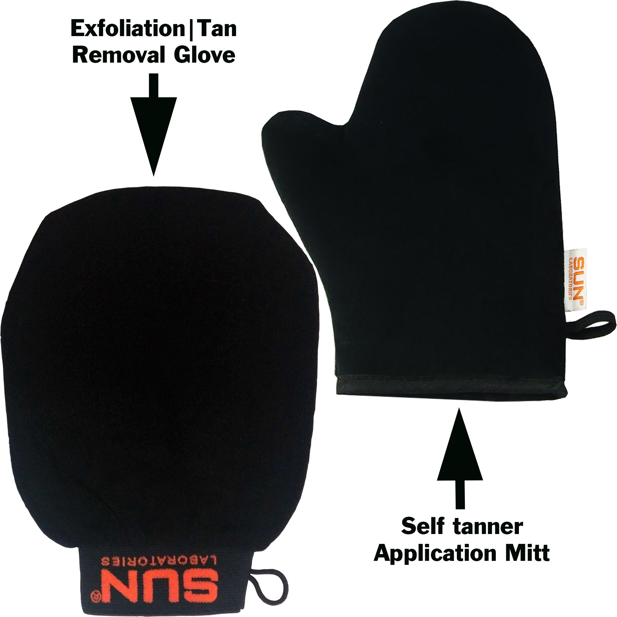 Self Tanner Application Mitt + Body Exfoliation Glove Tan Remover And Pre Tan Prep - Use these Products To Get A Perfict Self Tan Every Time | Sunless Tanning Cream Applicator Mitt