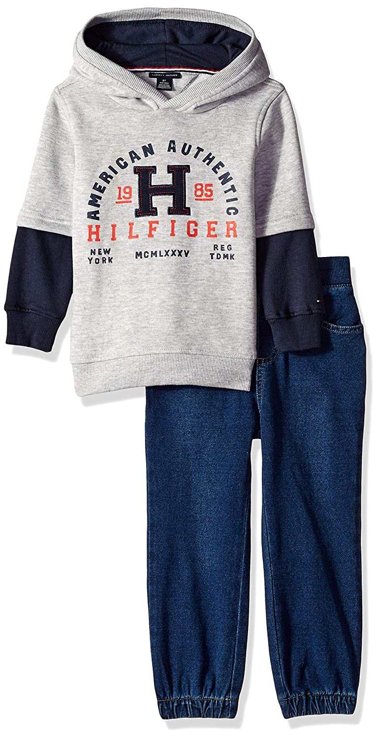 934a5aa906843 Amazon.com: Tommy Hilfiger Boys' Toddler 2 Pieces Pullover Pants Set:  Clothing