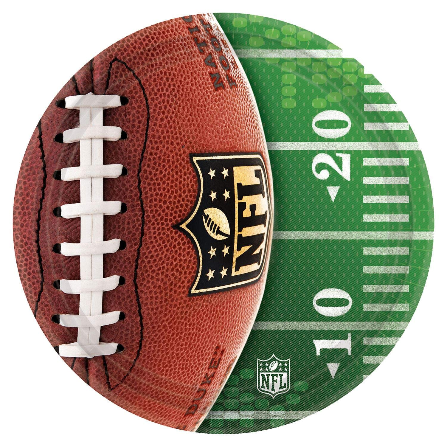 Amscan ''NFL Drive Collection'' 10.5'' Round, Party Plates, 48 Ct.