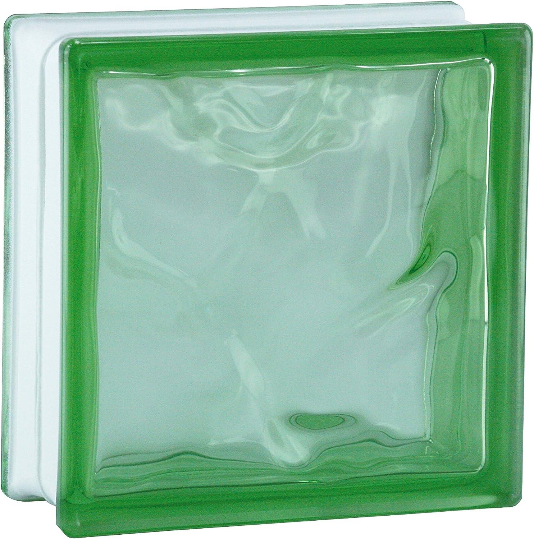 6 pezzo BM vetromatton nuvola reflex ametista vetromattone lucido 19x19x8 cm