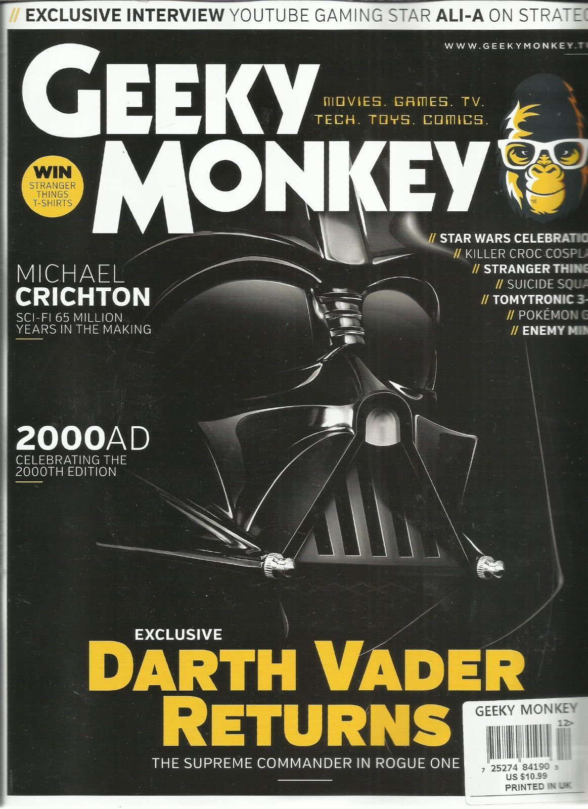 GEEKY MONKEY MAGAZINE, MOVIES, GAMES, TV, TECH, TOYS, COMICS SEPTEMBER, 2016