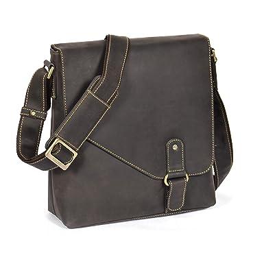 9f154eabf9 Mens Real Leather Tablet Bag Shoulder Cross Body Bag  BREMEN  Brown ...