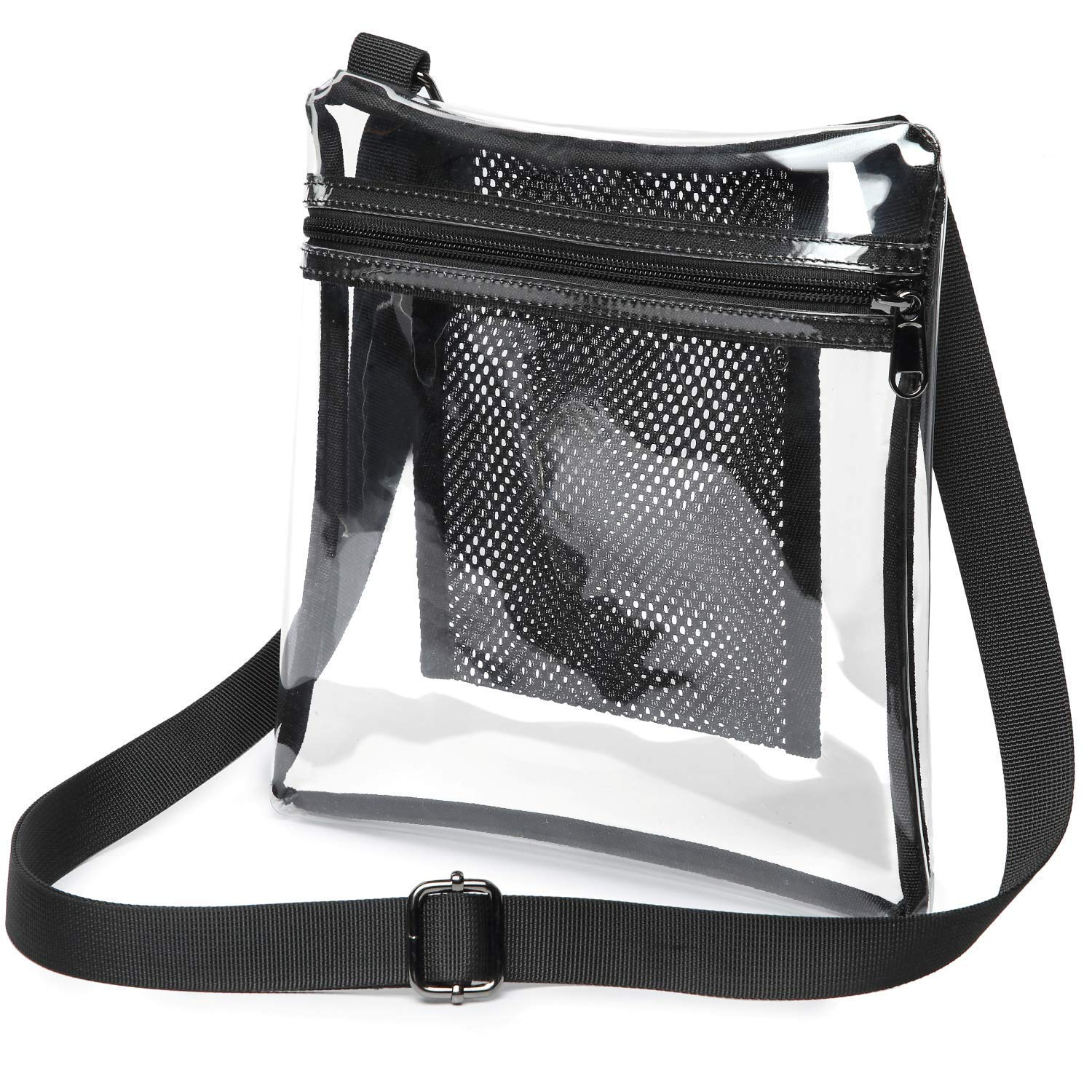 Clear Purse, NFL Stadium Approved Clear Bag for Women and Man Durable Clear Crossbody Bag with Adjustable Strap