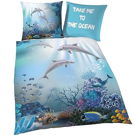 Delfin Biber Bettwäsche Set Für Mädchen Jungen Kinderbettwäsche