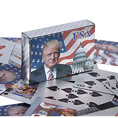 Donald Trump Playing Cards - Water Resistant Poker Cards for Game for Table Games Good Gift for Friends, Men, Woman: Sports & Outdoors