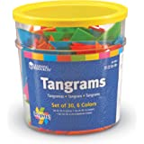 Learning Resources Brights! Tangrams Class Pack