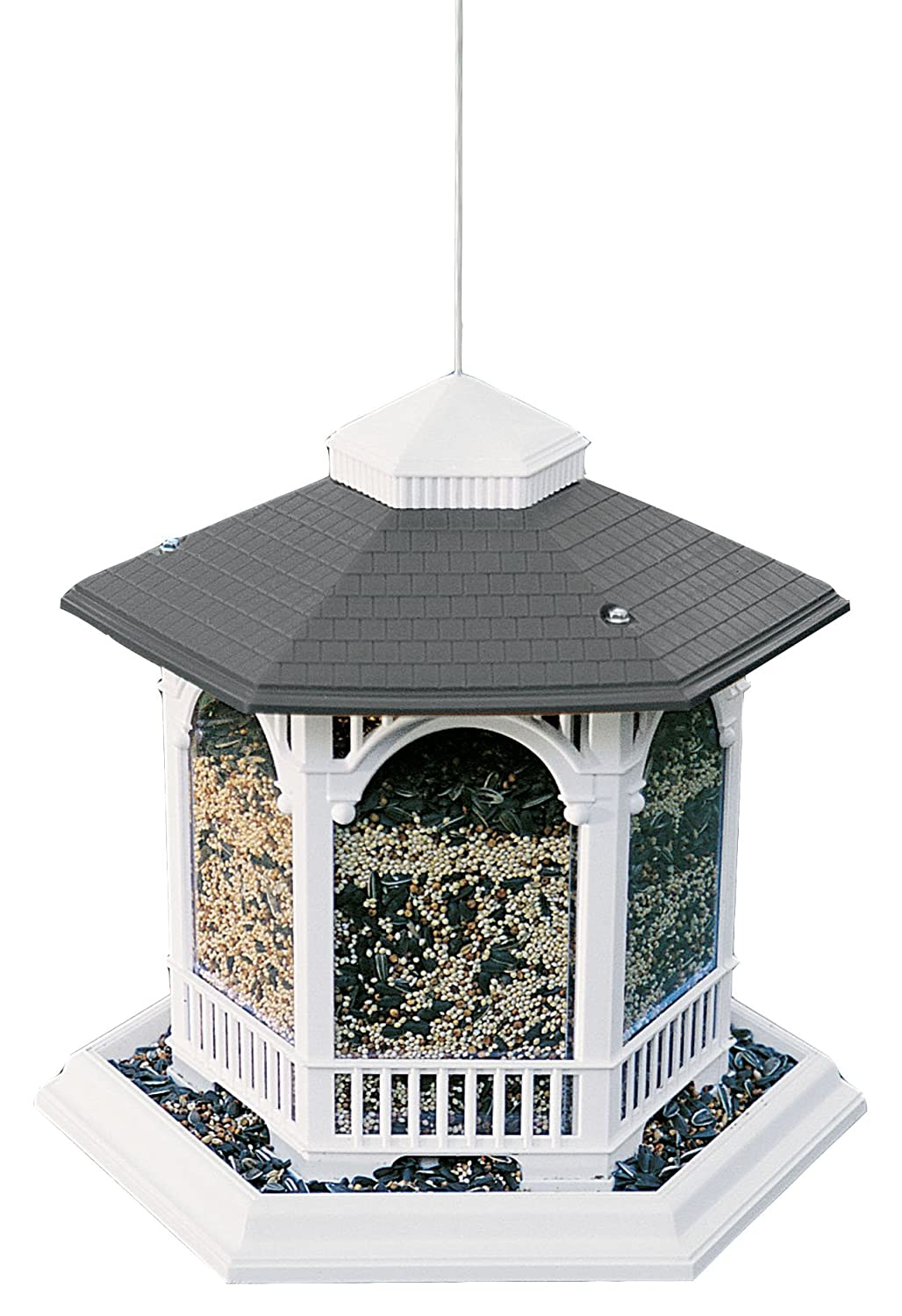wood amazon outdoor feeders dp bird com garden suet feeder woodlink copgazebo gazebo coppertop