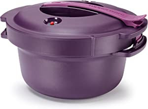 Tupperware Microwave Pressure Cooker 2 Qt. Purple New