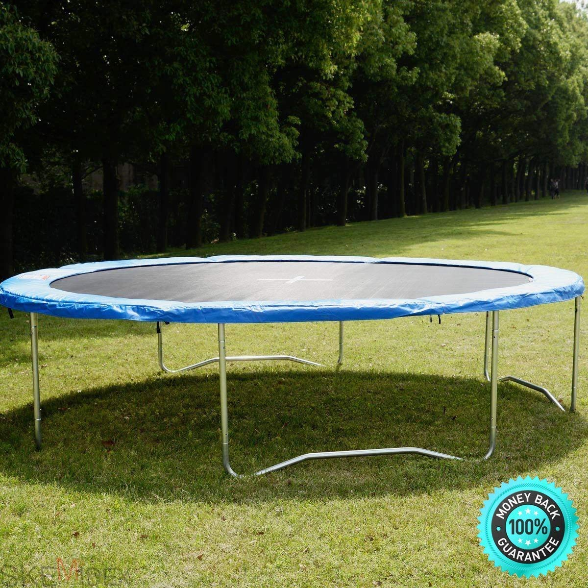 SKEMi- Best Exercise Trampoline Exercise Trampoline Walmart and Exercise Trampoline Weight Limit and Safety Round Frame Blue Pad Spring Pad Replacement Cover for 10FT Trampoline New Item Ways