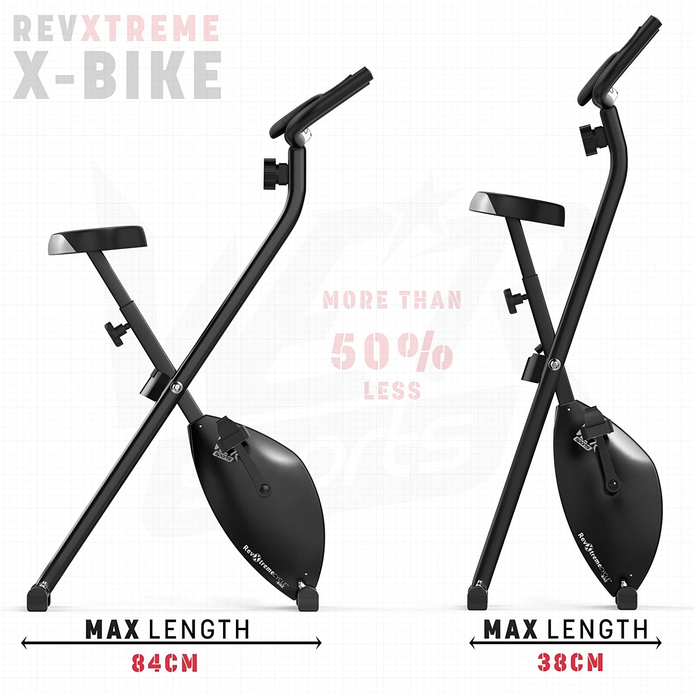 We R Sports Folding X-Bike - Bicicletas estáticas (plegable, ahorro de espacio, interior, magnético), color negro: Amazon.es: Deportes y aire libre