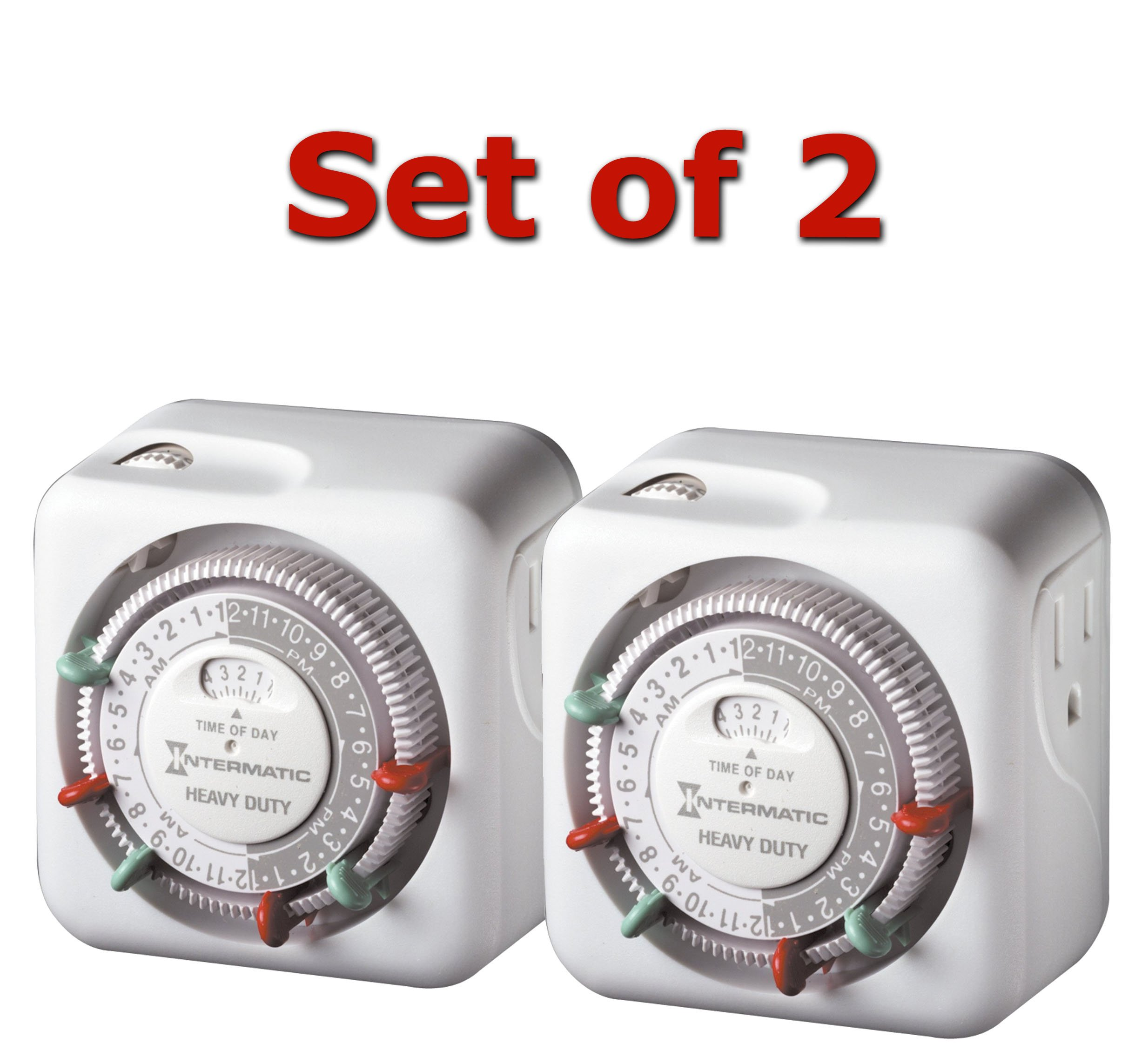 Intermatic TN311 15 Amp Heavy Duty Grounded Timer - 2-Pack by Intermatic