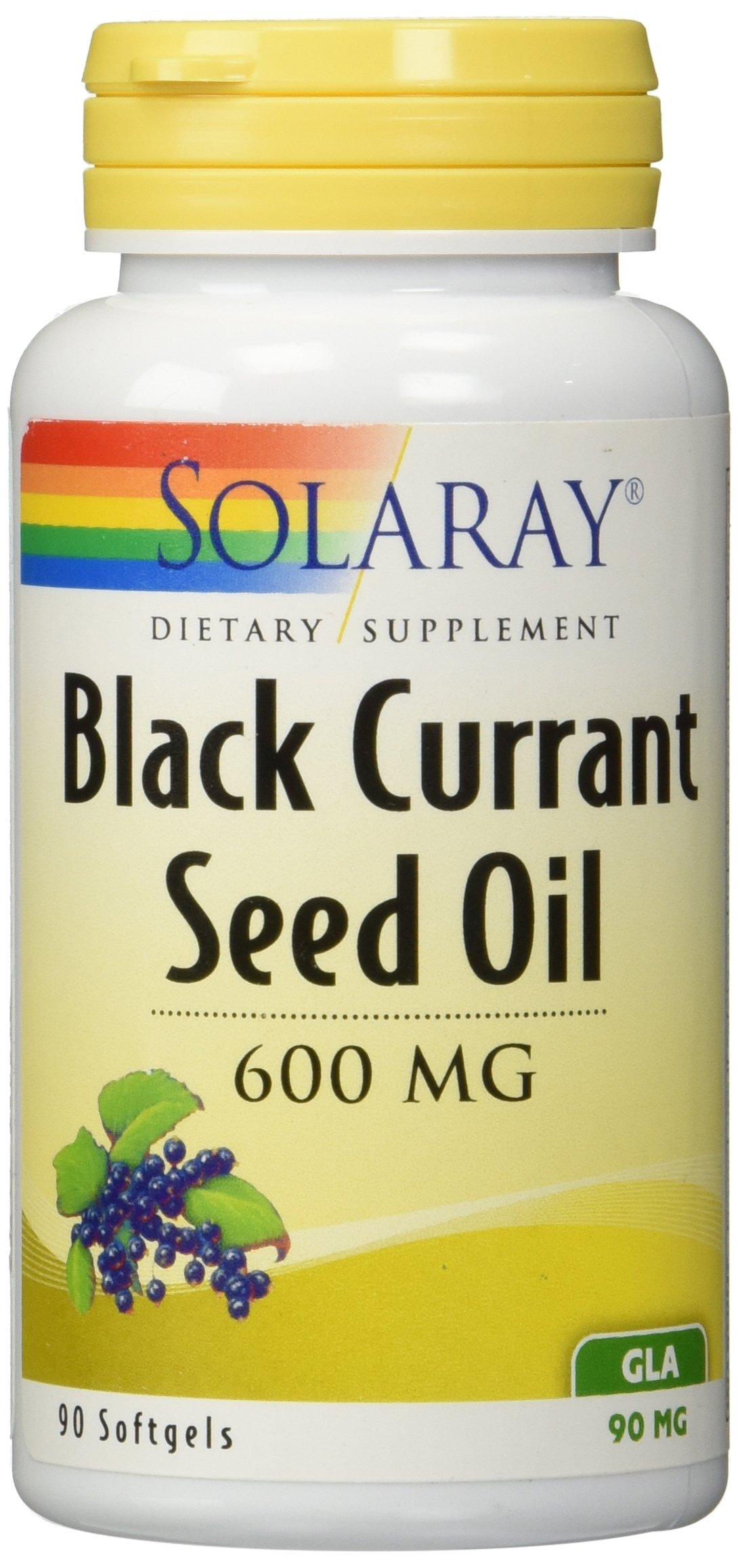 Solaray Black Currant Seed Oil, 600 Mg, 90 Softgels