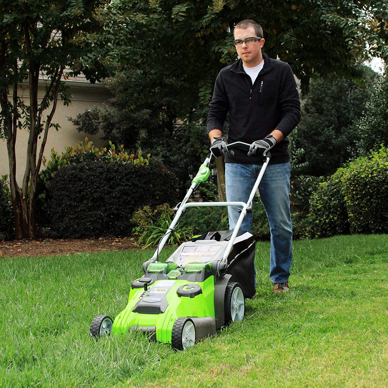 Best Mower For 5 Acres Greenworks 25302 Twin Force Cordless Lawn Mower