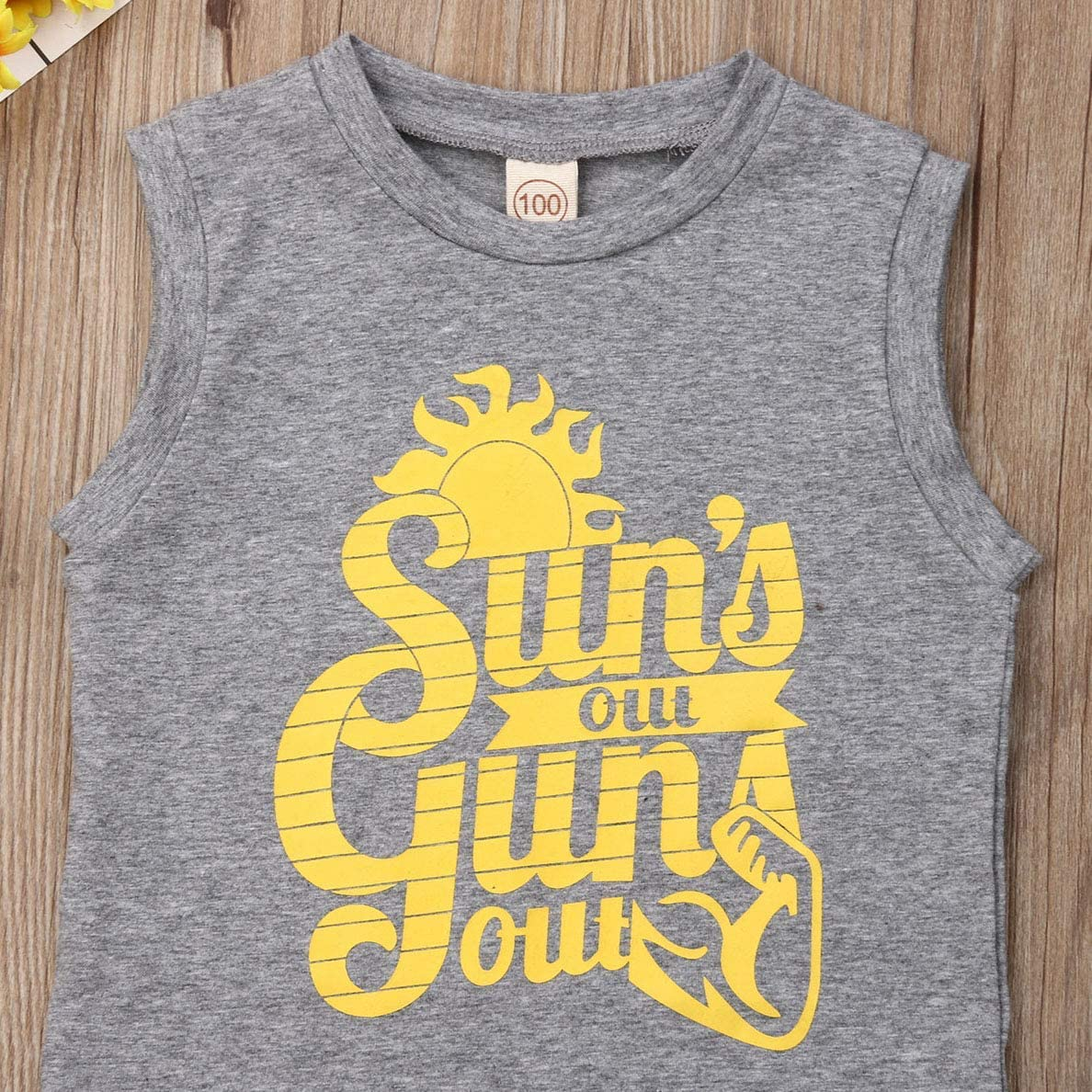 Toddler Baby Boys Tank Tops Tee Suns Out Guns Out Vest T-Shirts Summer Sleeveless Vest