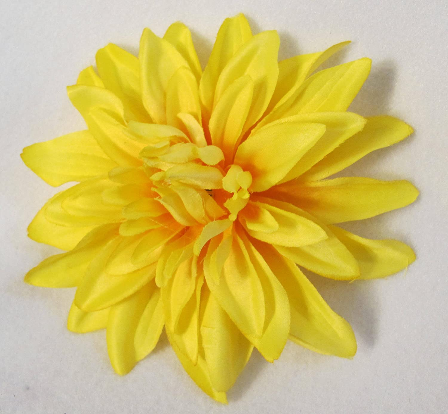 Amazon yellow dahlia hair flower beauty izmirmasajfo