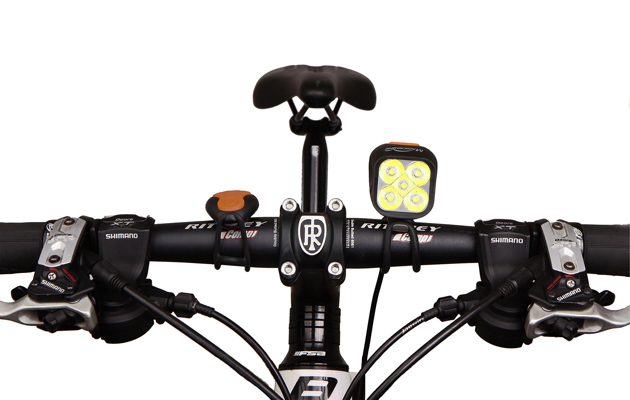 Magicshine MJ 906, High Grade MTB Enduro Bike Light Set, 5000 Lumens of Max output. Wireless Remote Bicycle Lights Front And Rear Combo, LED Bike Tail Light, Perfect Beam Pattern Bright Bike Light by Magicshine (Image #8)