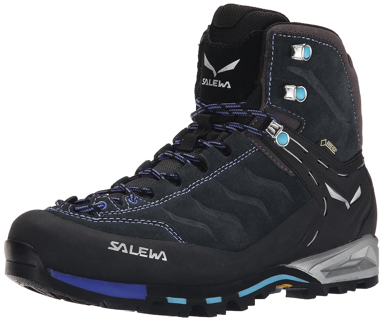 Salewa Women's WS Mtn Trainer Mid GTX Hiking Shoe B00N48FGU4 6.5 B(M) US|Carbon/River Blue