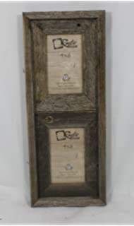 4x6 25 wide reclaimed rustic barnwood vertical collage frame holds 2 photos
