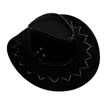 GHONLZIN Cowboy Hat Cowgirl Hats with Wide Brim dbdd269078e