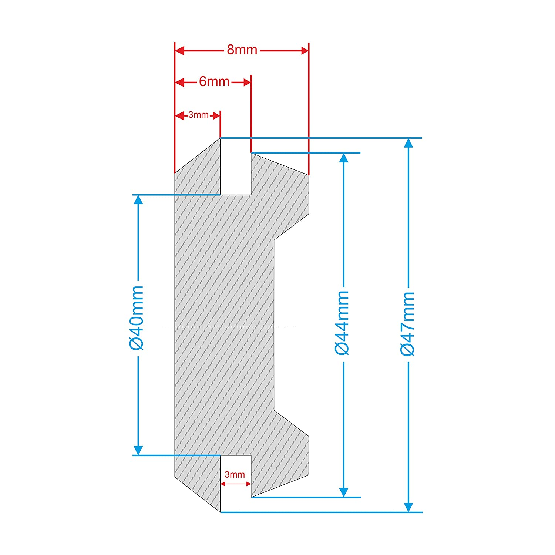 1 x 40 mm Gummi-T/ülle ohne Loch Blindstopfen Firewall-Dichtung Befestigungslochkappen