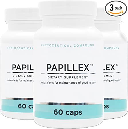 Dietary Supplement Tablets by Papillex - All Natural Immune Support - Immunity Defense - Best Immune System Booster - Organic 60 Capsules Bottle (3 Pack)