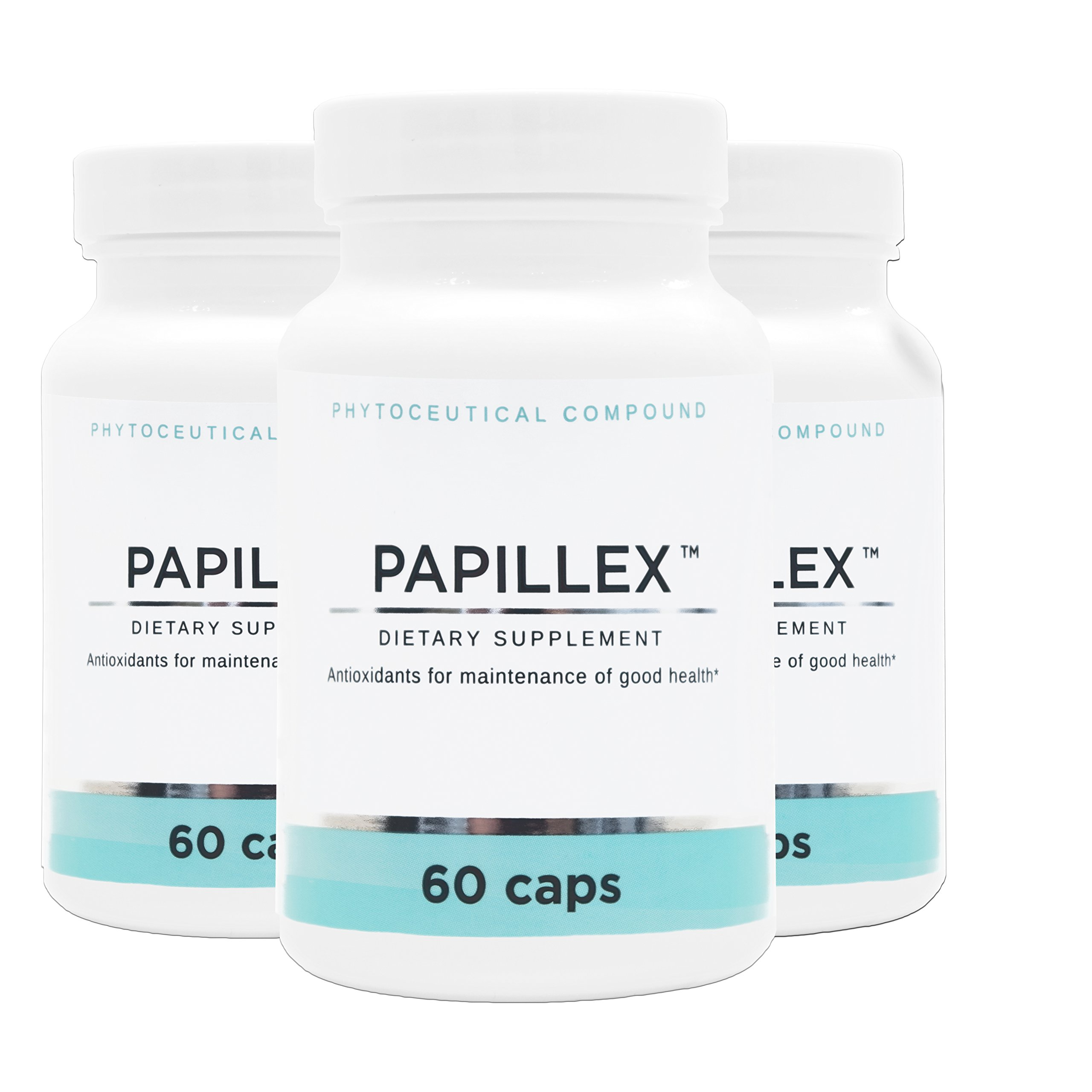 Dietary Supplement Tablets by Papillex | Natural Immune Support | 60 Capsule Bottle (3 Pack)