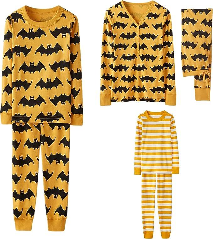 Hosen Warm Weich Bequem Hausdienst Kleidung Zweiteilige Schlafanzug Set Familie Langarm Nachtw/äsche Mama /& Papa /& Kinder Drucken Tops Huhu833 Halloween Familie Pyjamas Set