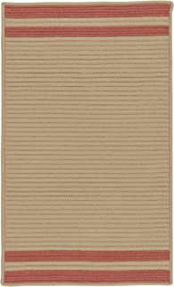 product image for Colonial Mills Denali End Stripe Area Rug, 2x3, Brick Red