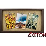 Axeton Clothesline Photo Frame, Brown Color, Wire Hanger