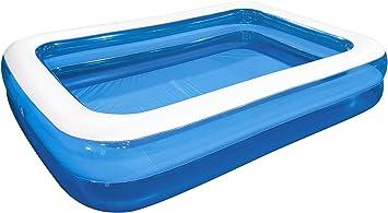 Saica Piscina Gigante Hinchable para niños y Mayores, Azul y Blanco